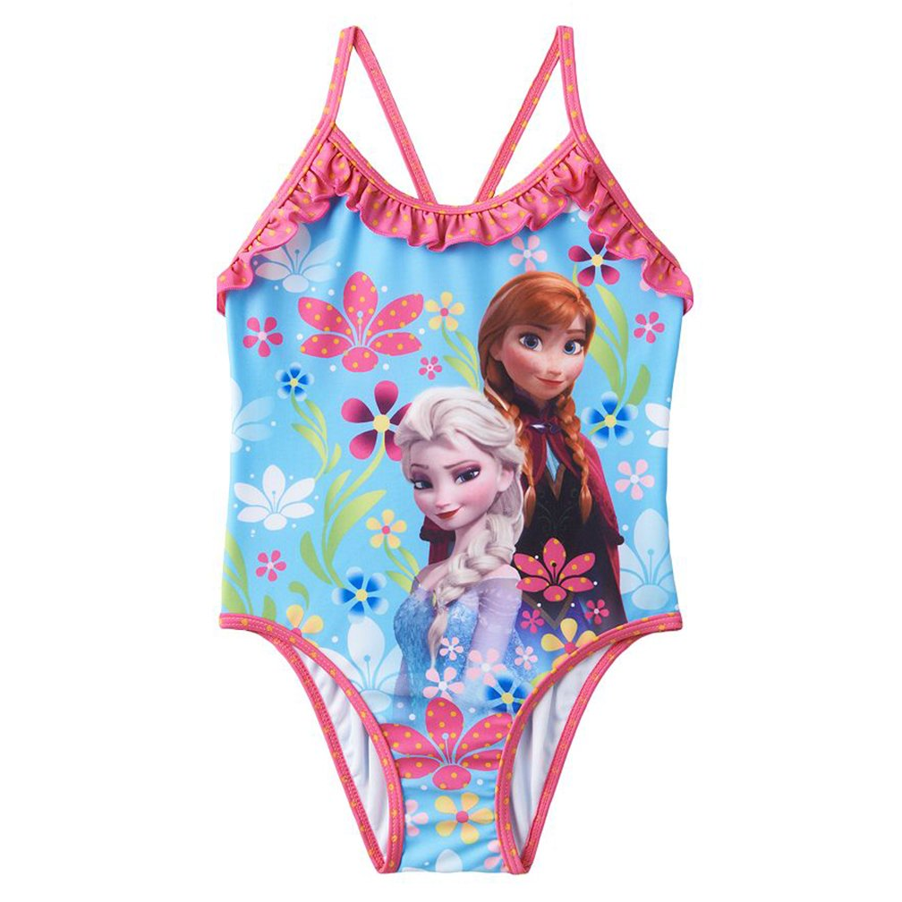 Disney Frozen Little Girls One-Piece Swimsuit Floral