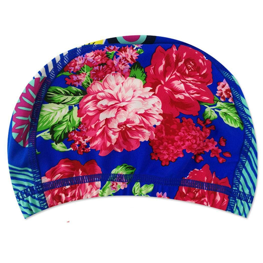 kirken Unisex High Elastic Swimming Caps Summer Water Sport Pool Hat Swim Caps