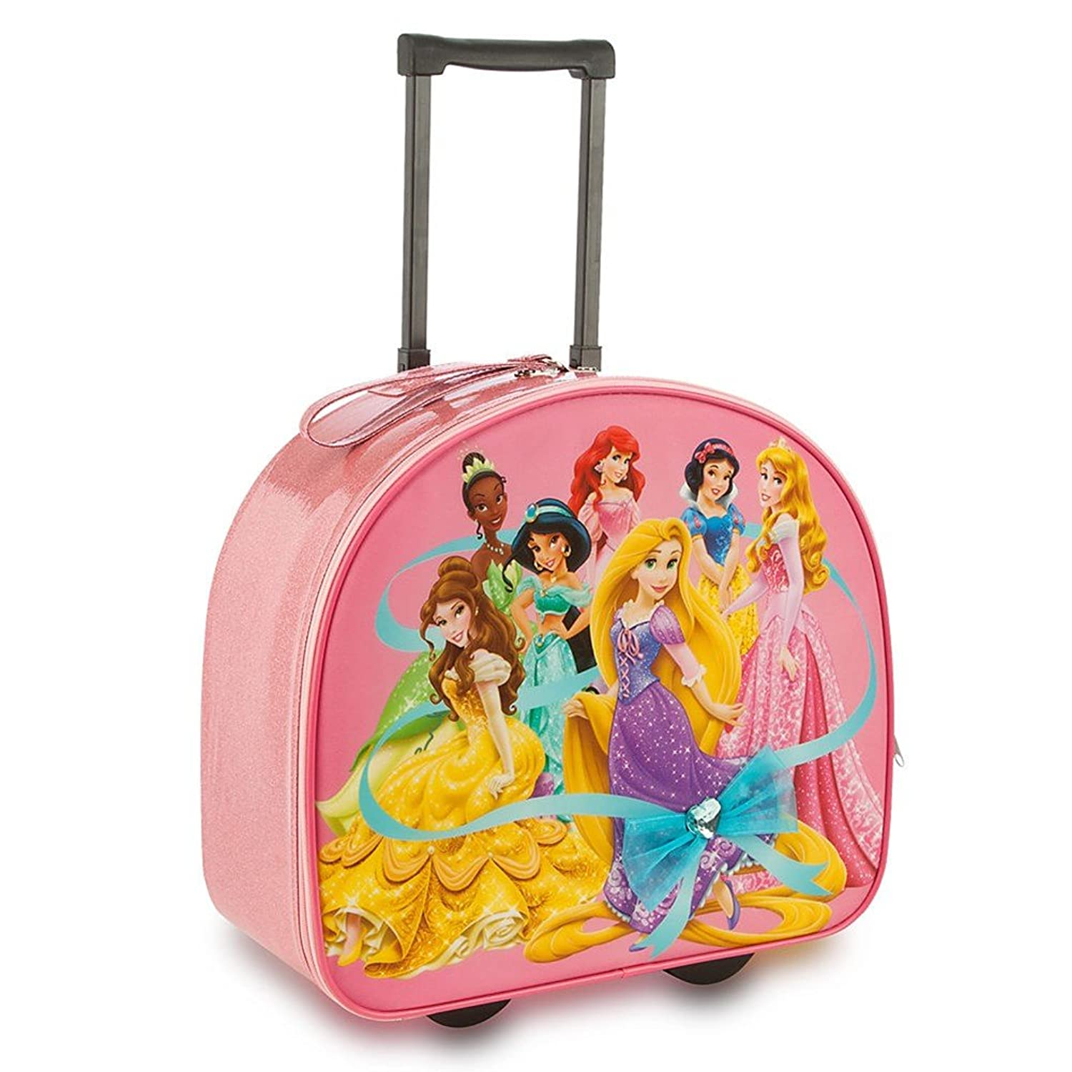 Amazon.com | Disney Store Disney Princess Rolling Luggage/Carry-On ...