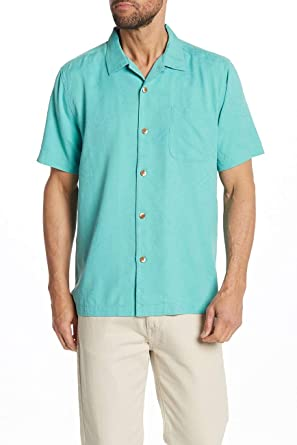 33570a92 Tommy Bahama St. Lucia Fronds Camp Shirt (Castaway Green, X-Large) at  Amazon Men's Clothing store:
