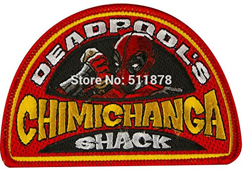 Deadpool Chimichanga Shack patch Marvel Comic Magneto Xavier Wolverine Movie TV Series Costume Embroidered iron on APPLIQUE