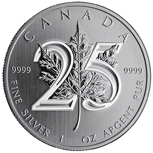 2013 CA Canadian Silver Maple Leafs $5 Brilliant Uncirculated