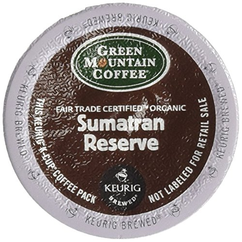 Green Mountain Straightforward Trade Organic Sumatran Reserve Extra Bold 4 Boxes of 24 K-Cups