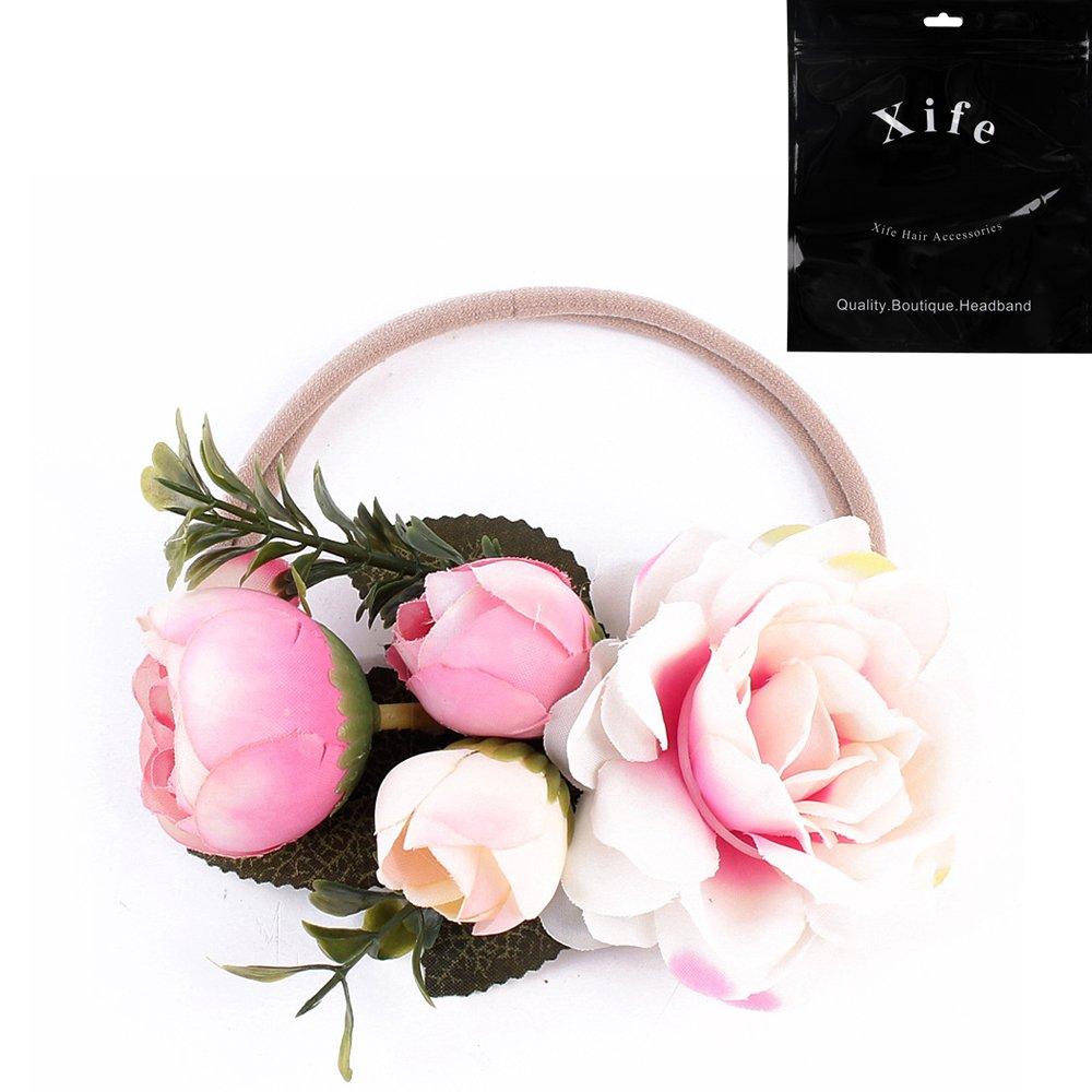 Amazon Newborn Flower Elastic Flowers Headbands Headband Floral