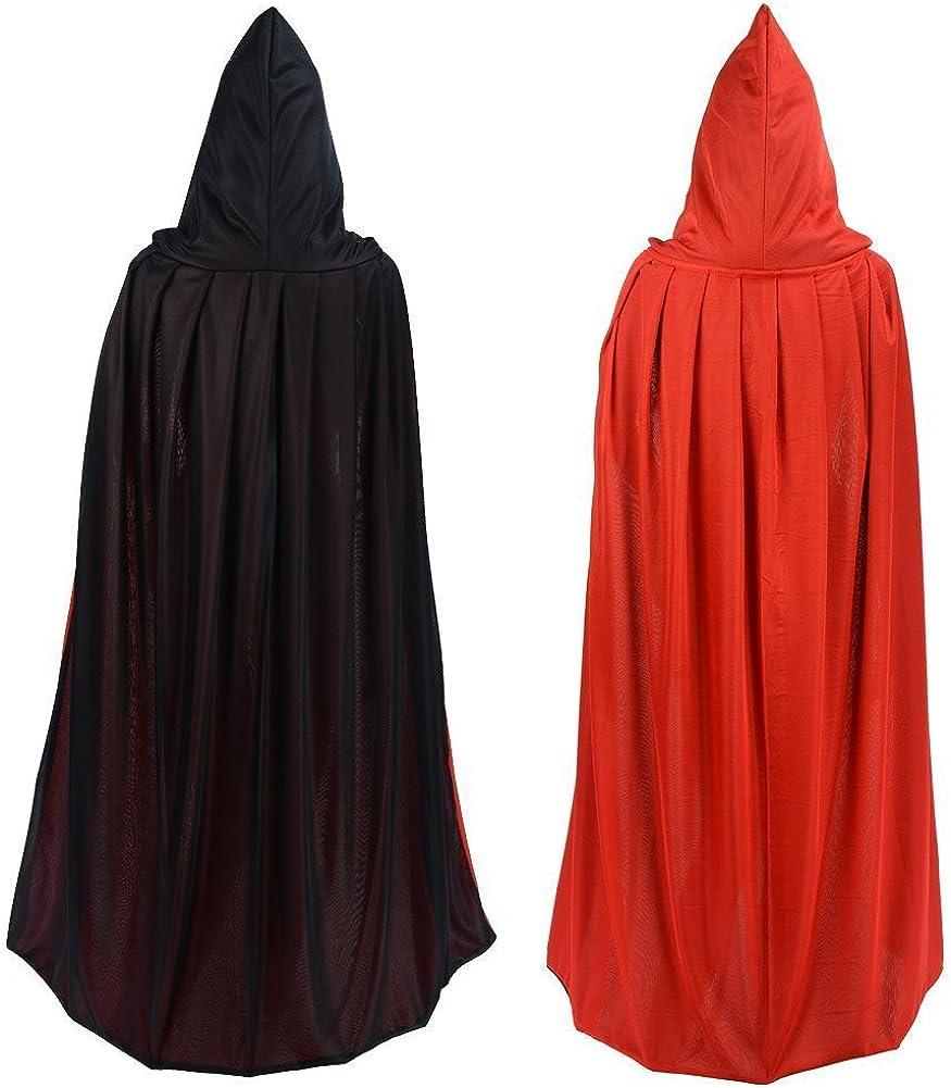 Wizard Black Cloak Robe Vampire Unisex Adult Costume Halloween Costume Cosplay