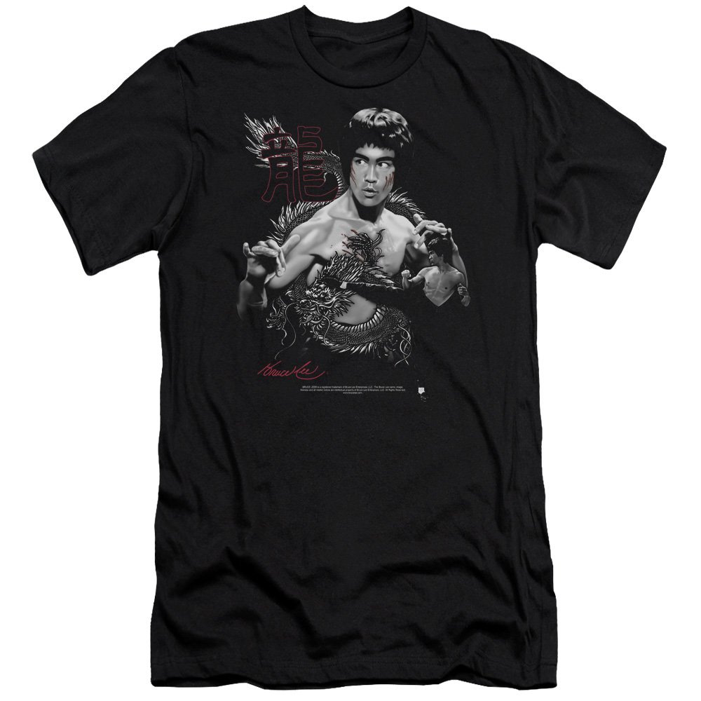 Bruce Lee The Dragon Mens Premium Slim Fit Shirt Trevco