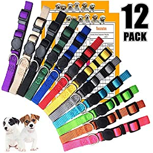GAMUDA Pet ID Puppy Collar – Super Soft Nylon Whelping Puppy Collars – Adjustable Breakaway Litter Collars Pups… Click on image for further info.