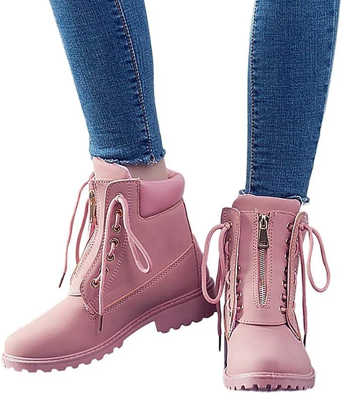 TianWlio Botas Zapatos de Nieve Mujeres Mujer Otoño Invierno Botas ...