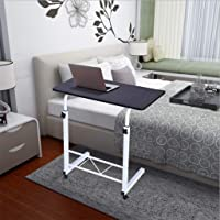 Sanyyanlsy Computer Desk, Home Office Chair Lifted and Lowered Mobile PC Desk Bedside Table, Portable Standing Desk, Laptop Stand Reading Holder for Couch Floor Kids Bedroom Living Room US (Black)