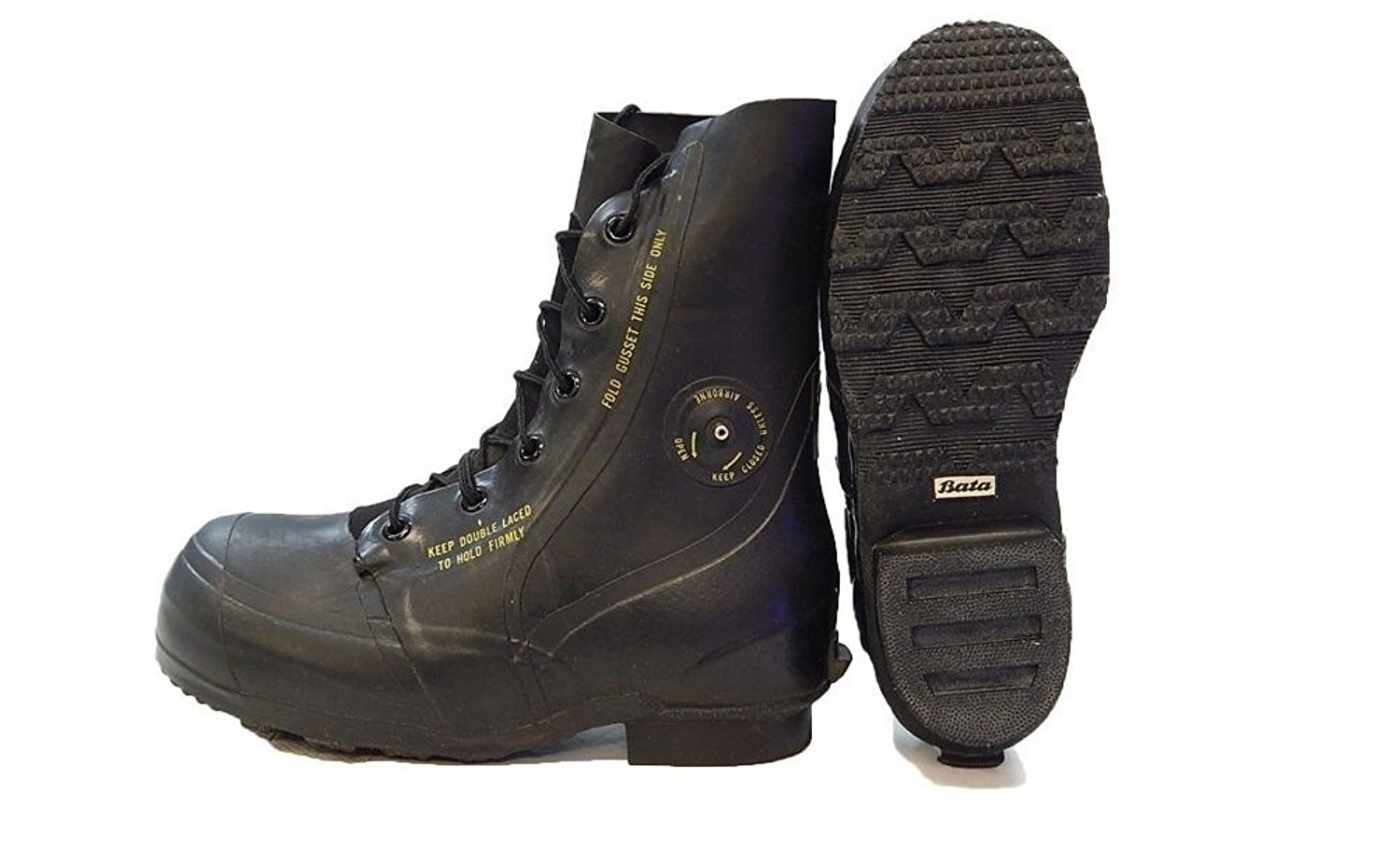 Combat Boot, ''Mickey Mouse'' Extreme Cold Weather Boots, Waterproof Rubber, Genuine U.S. Military Issue, NSN 8430-00-823-7037, 7 Wide