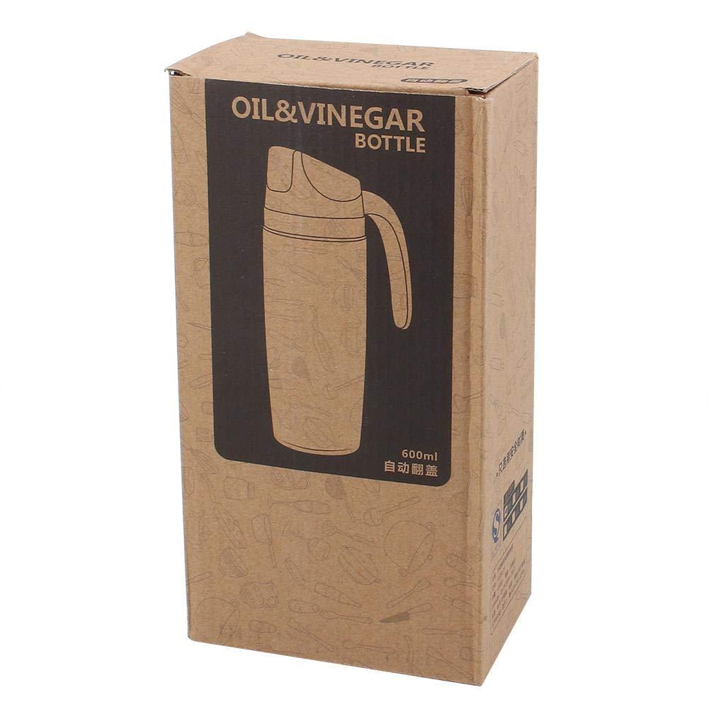 01 WYANG Distributeur dhuile Goutte /à Goutte r/écipients pour Condiments dhuile M 600ML Bouteille de Vinaigrette en Verre