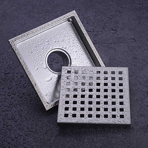 Hanebath 6 Inch Square Shower Floor Drain With Removal