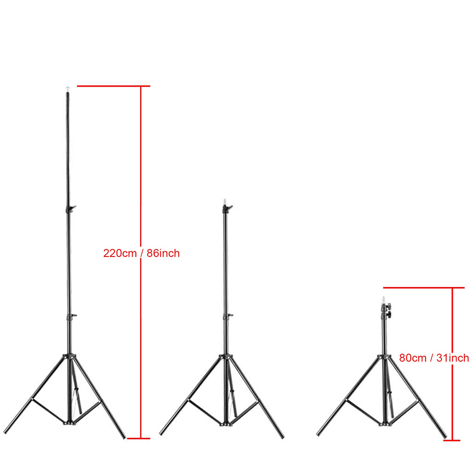 VILTROX LS-190 light stand 86''/7 Feet 220CM Photography Light Stand for LED Light , flash ,Relfectors, Softboxes, Umbrellas, Backgrounds