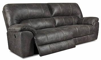 Amazon.com: Chelsea Home Reclining Sofa in Stallion Gray ...