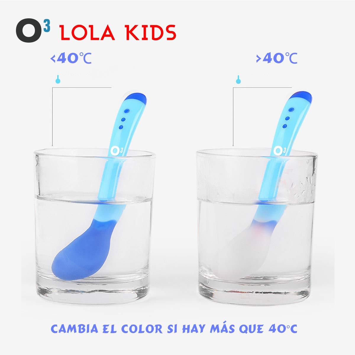 O³ Cucharas Silicona Bebe 6 Uds (4 Cucharas + 2 Tenedores ...