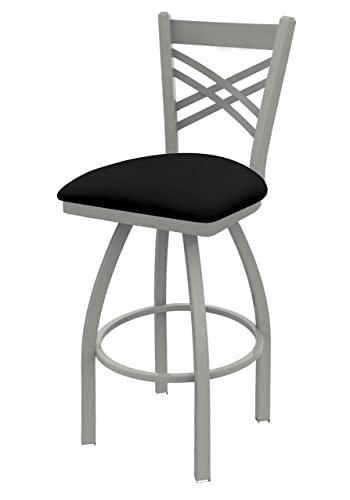 Holland Bar Stool Company 820 Catalina 30-Inch Bar Stool with Anodized Nickel Finish, Black Vinyl Seat and 360 Swivel