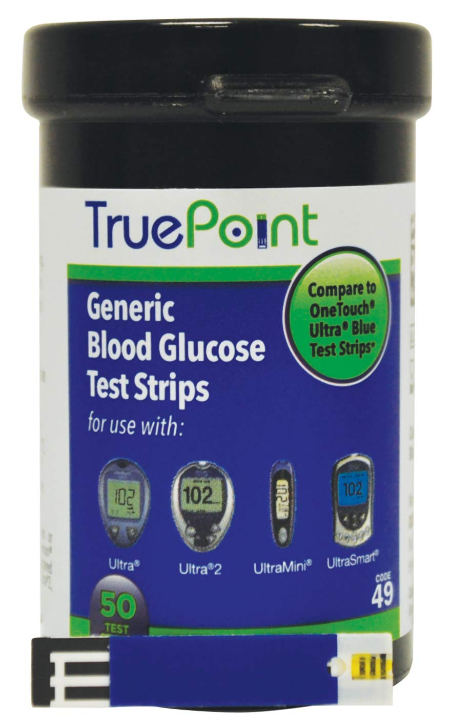 True Point Generic Test Strips 100 Count for Use with One Touch Ultra, Ultra 2 and Ultra Mini Meter.