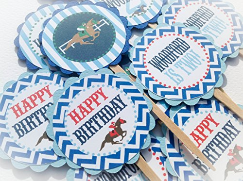 12 - Cupcake Toppers - Off to the Races / Kentucky Derby Hap