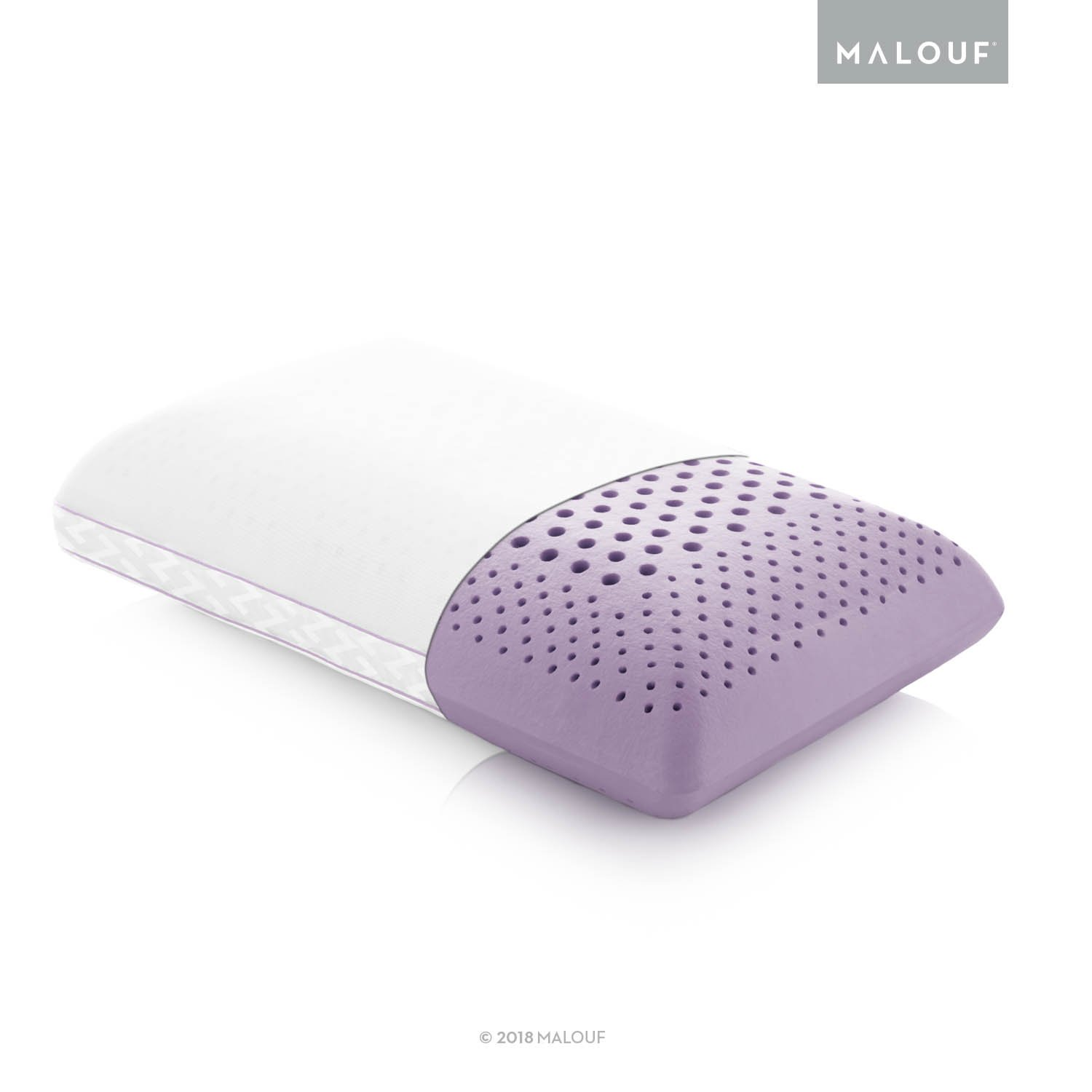 Z Zoned ACTIVEDOUGH Pillow Infused with All Natural Lavender Oil - Feels Like Blend of Latex and Memory Foam - Mid Loft - King