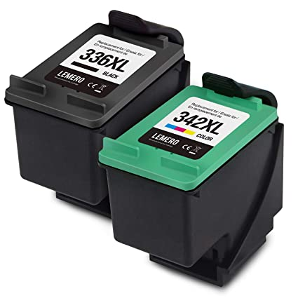 LEMERO 336XL 342XL - Cartuchos de Tinta reciclados para HP DeskJet 5440 5442 OfficeJet 6310 PhotoSmart 2570 7830 7850 2573 2575a 7800 C3100 C3180 ...