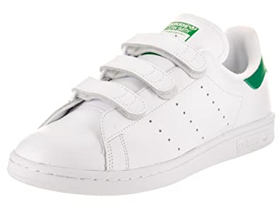adidas Stan Smith CF Mens in White/Green by, 8.5