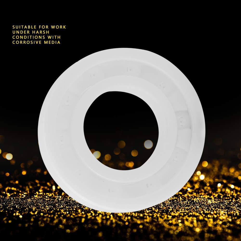 24 Akozon Miniatura Rodamiento de Bolitas Cer/ámica ZrO2 6901 12 6mm Blanco Color 1pc