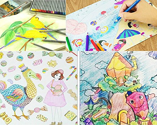 Ohuhu 72 Color Colored Pencils Drawing For Sketch Secret Garden Coloring Book