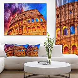 Colosseum Rome Italy Monumental Photo Canvas Print