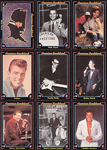 AMERICAN BANDSTAND 1993 COLLECT-A-CARD COMPLETE BASE CARD SET OF 100 MUSIC ()
