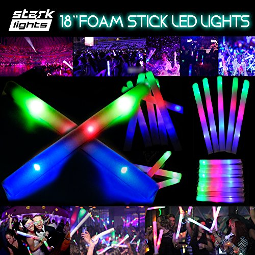 Light Up Foam Sticks LED Wands Rally Rave Batons DJ Flashing Glow Stick Flashing
