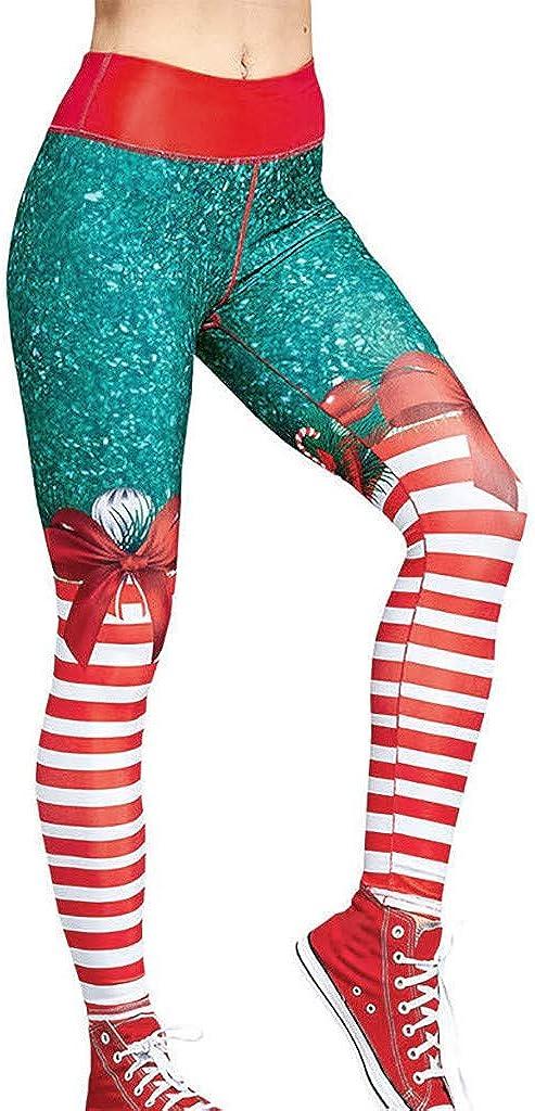 Ansenesna Christmas Womens Yoga Sport Petite Bowknot Leggings Fitness Pants Workout Trousers