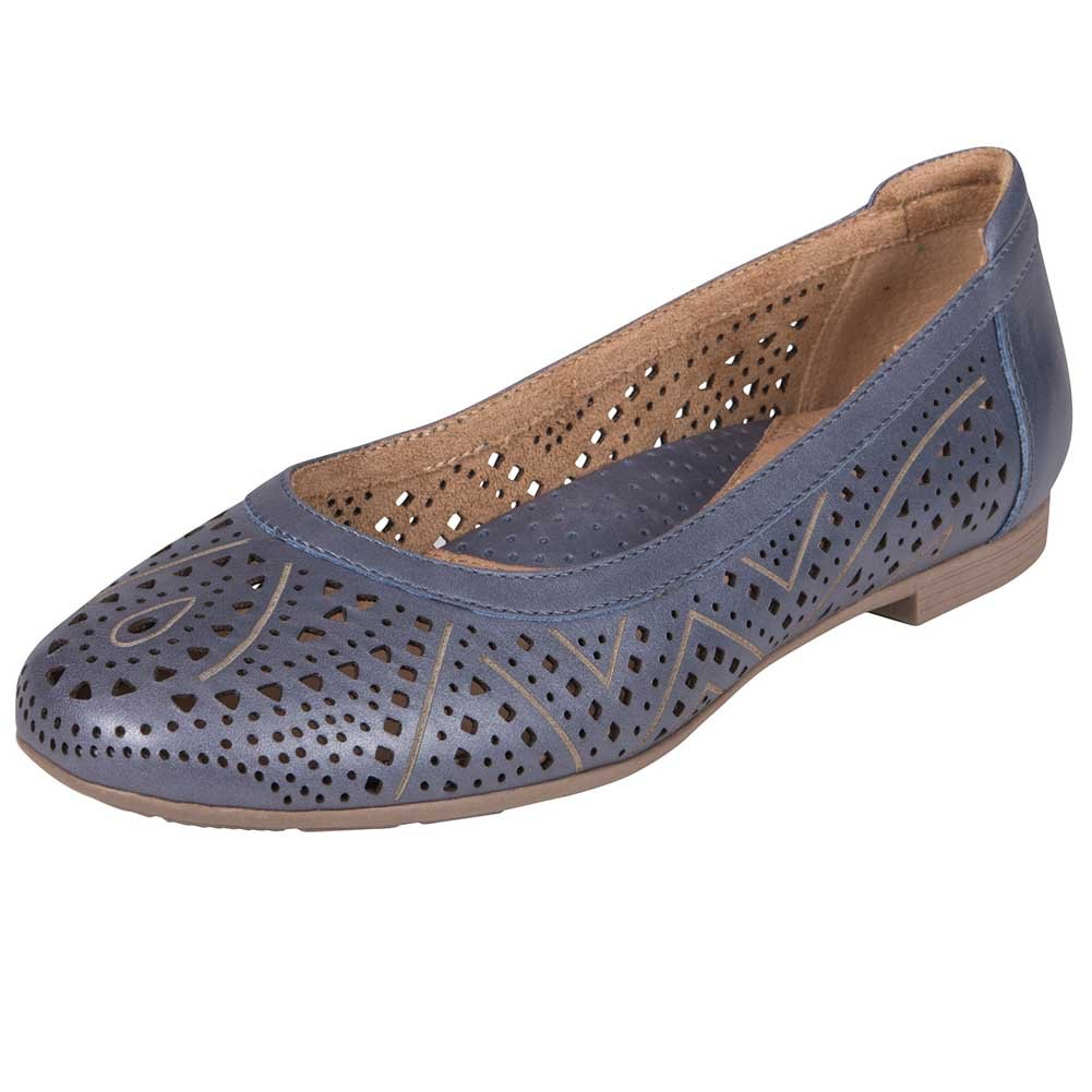 Earth Womens Royale Ballet Flat B075143Q81 8 B(M) US|Navy Pearlized Metallic Leather