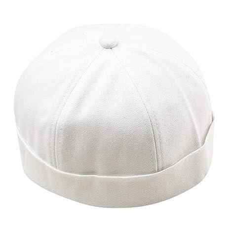 Longra💞 Hombres Mujeres Charm Hat Cap Casual Docker Marinero ...