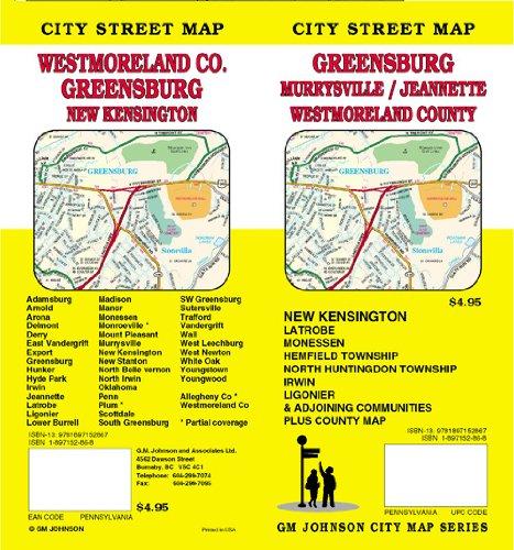 Westmoreland County / Greensburg / Jeannette / Murrysville, PA Street Map