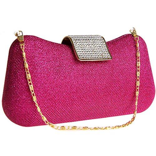 A Tracolla Borsetta Donna Pochette Rosa Sposa rosso Kaxidy Da Borsa Cristallo wRxq8fx0OB