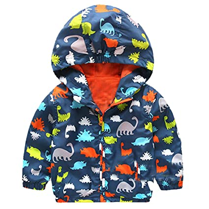 1792ad99a Baby Infant Girls Boys Cool Dinosaur Hooded Zip Coat Cloak Jacket ...