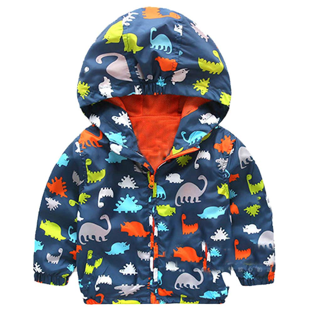 Moonper Kid Infant Toddler Baby Boys Girls Winter Dinosaur Hooded Zip Coat Cloak Jacket Thick Warm Clothes Sweaters
