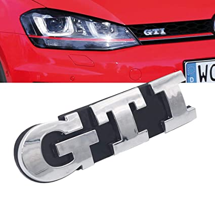 GSRECY rejilla delantera insignia emblema cromado para Golf 7 GTI ...
