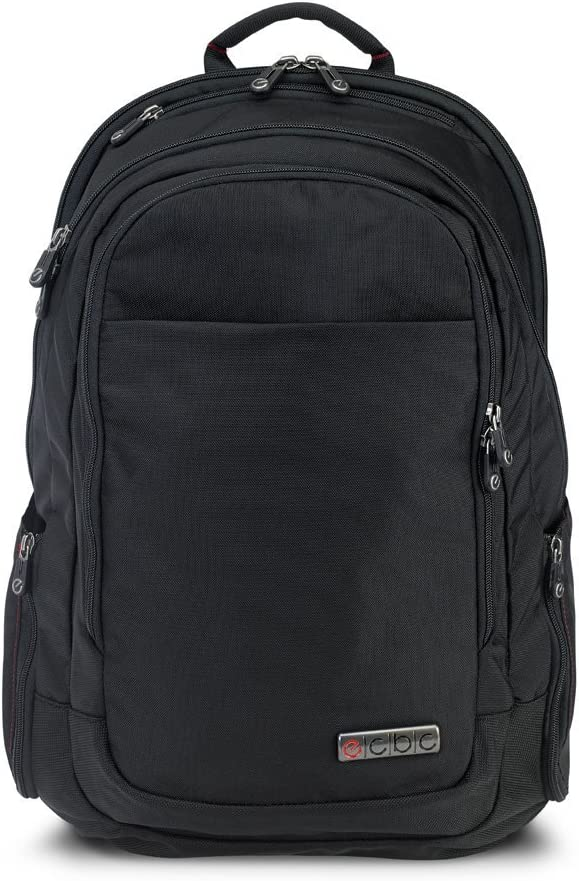 "ECBC Lance Daypack Travel Backpack, with 17"" Laptop Sleeve, TSA FastPass, Black"