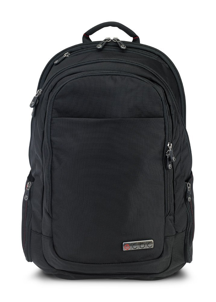 ECBC Backpack Computer Bag - Lance Daypack for Laptops, MacBooks & Devices Up to 16.5'' - Travel, School or Business Backpack for Men & Women - Premium Quality, TSA FastPass Friendly - Black (B7103-10) by ECBC