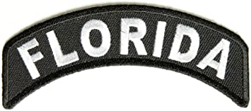 """Florida Rocker Patch State of Florida MC Biker Embroidered 4/"""" Iron On FAST SHIP"""