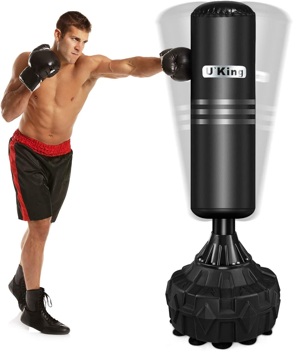 U'king Free Standing Boxing Punch Bag Stand
