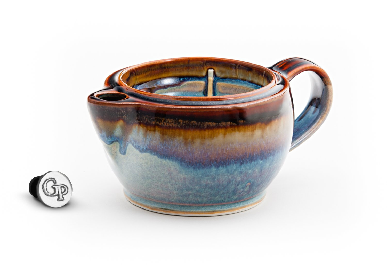 Georgetown Pottery G12 Shaving Scuttle Mug - Hamada & Purple by Georgetown Pottery