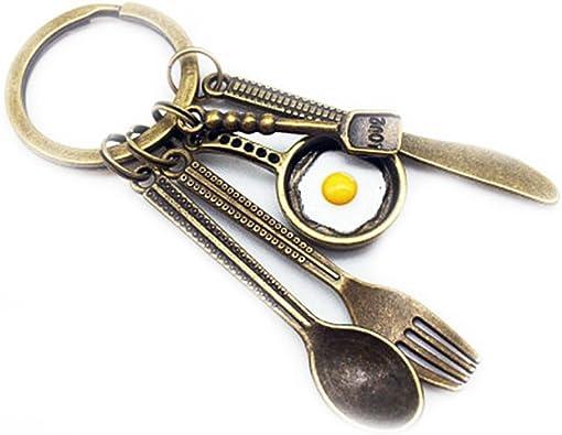 Amazon.com: kakupao cuchillo llavero Cook Llavero Chef ...