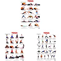 Yoga Chart 3 + Yoga Chart 2 + Yoga Chart 1 (Set of 3 Books)