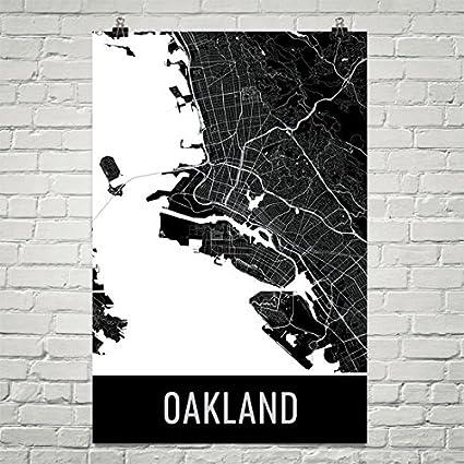 Oakland poster oakland art print oakland wall art oakland map oakland city