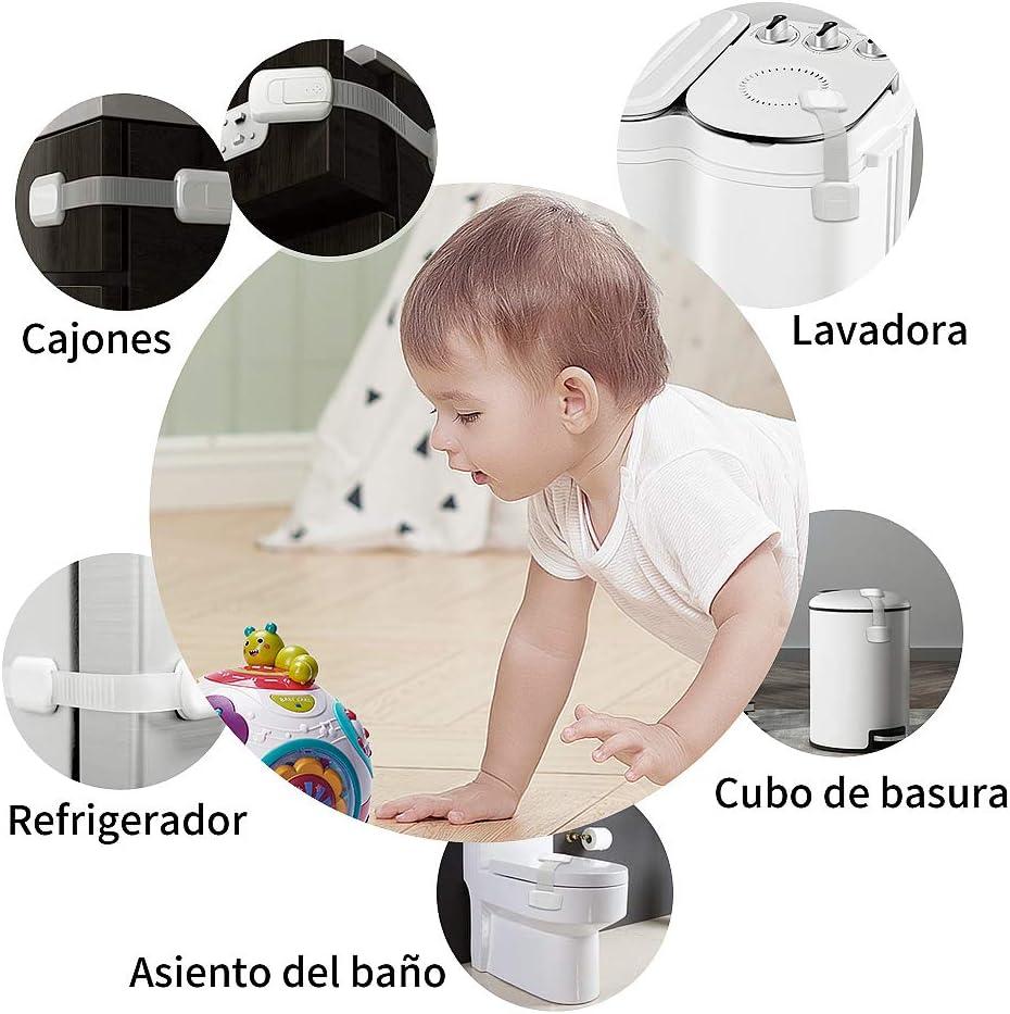Con S/úper Fuerte Acr/ílicos Adhesivo para armarios,WC Puertas y Nevera Cerraduras de Seguridad Aoweika Bloqueo de Seguridad Para Beb/és 8 Cerraduras+ 4 Protectores de Esquina Cocinas