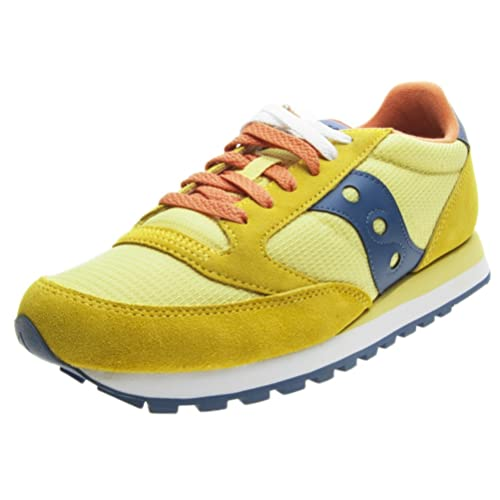 Saucony Men's Jazz Original Trainers Yellow YellowBlue