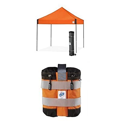 E-Z UP Vantage Instant Shelter Canopy, 10 by 10', Steel Orange with Pyramid Instant Shelter Canopy, 10 by 10', Blue : Garden & Outdoor