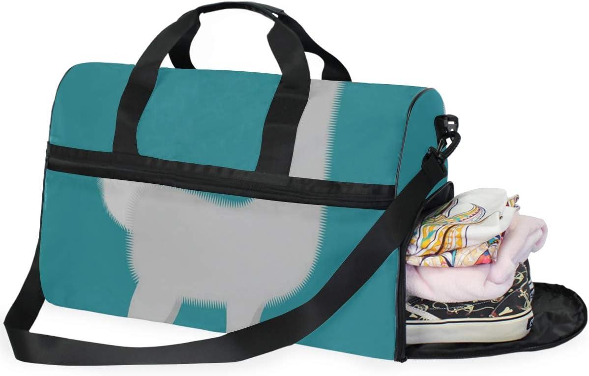 Blue Sheep Gym Bags for Men/&Women Duffel Bag Casual Fashion Bag with Shoe Compartment